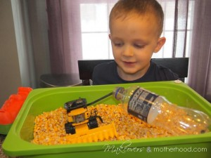 Dylan's combine and bottle trick;  www.makeoversandmotherhood.com