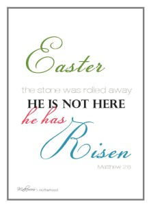 He has Risen Easter printable picture