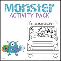 Monster Activity Pack (printables); www.makeoversandmotherhood.com