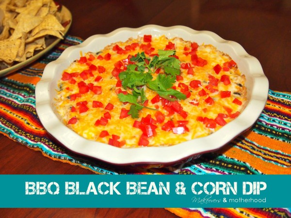 BBQ Black Bean & Corn Dip; www.makeoversandmotherhood.com