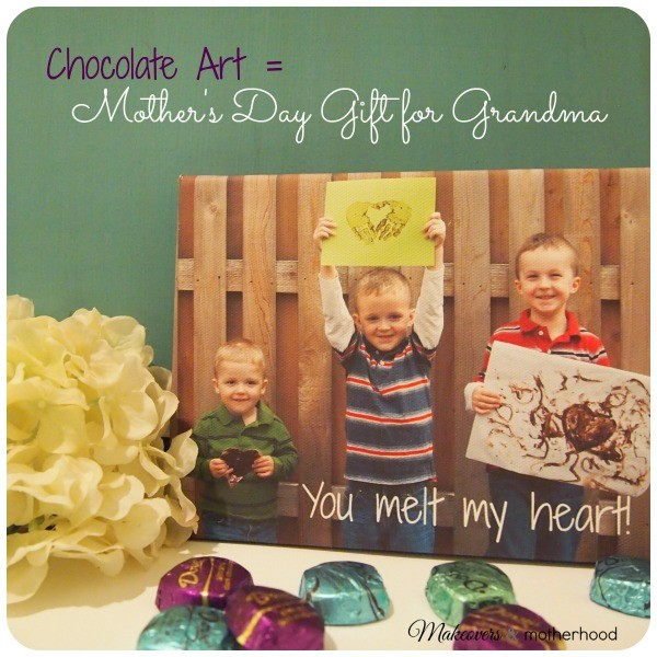 Chocolate Art = Mother's Day Gift for Grandma; www.makeoversandmotherhood.com