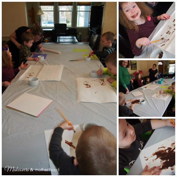 Making chocolate art with Lalymom & Craftulate; www.makeoversandmotherhood.com