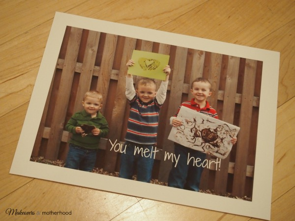 Printed canvas for Mother's Day gift; www.makeoversandmotherhood.com