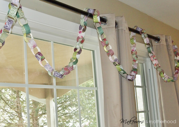 Spring Paper Chain;  www.makeoversandmotherhood.com