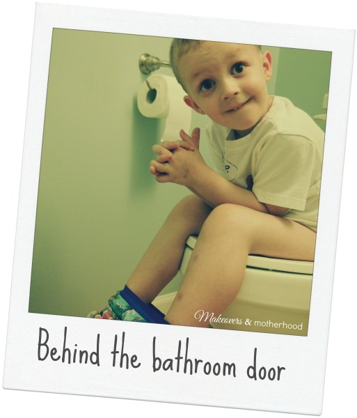 Behind the Bathroom Door;  www.makeoversandmotherhood.com