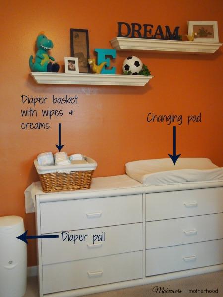 Diaper Changing Station;  www.makeoversandmotherhood.com