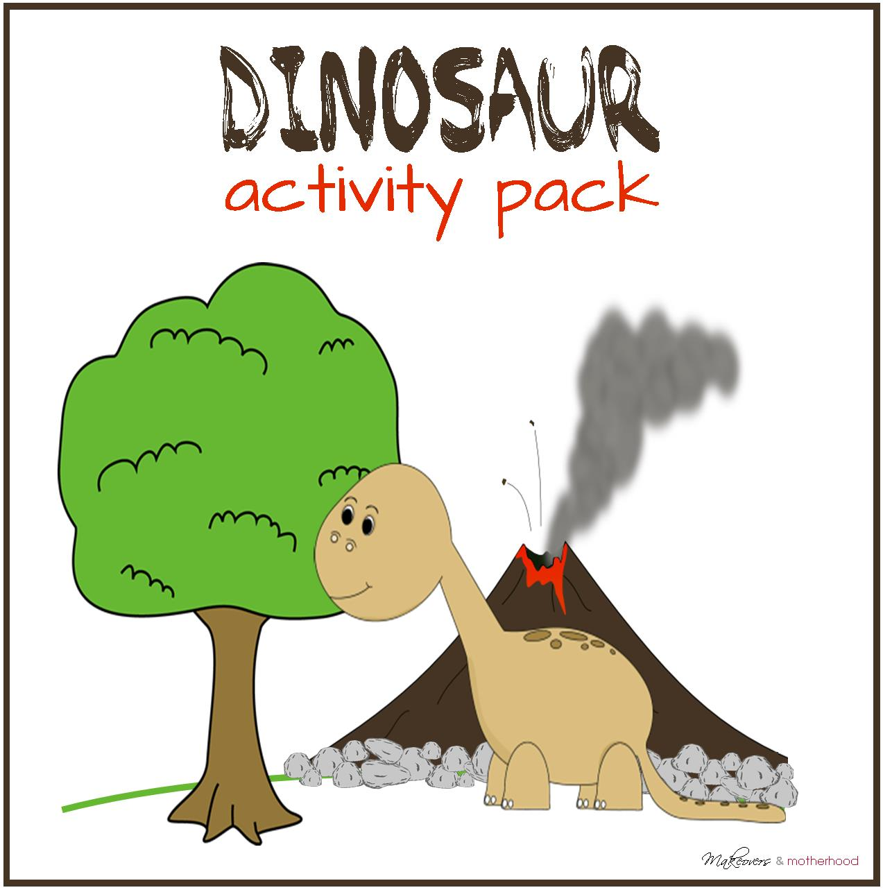 Dinosaur Activity Pack (printable) - Makeovers and Motherhood