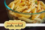 Feta, Bacon & Bell Pasta Salad