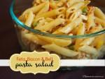 Feta, Bacon & Bell Pasta Salad; www.makeoversandmotherhood.com