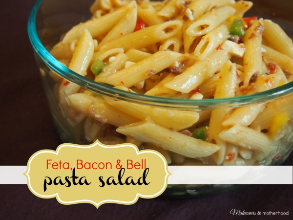 Feta, Bacon & Bell Pasta Salad;  msalishacarlson.com/