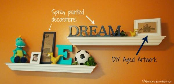 Nursery decorations;  www.makeoversandmotherhood.com