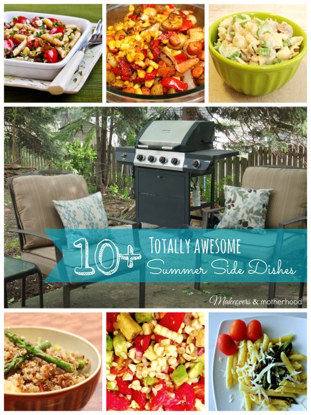 10+ Totally Awesome Summer Side Dishes;  www.makeoversandmotherhood.com
