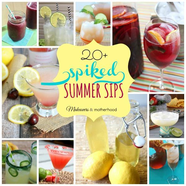 Summer Cocktail Recipes; www.makeoversandmotherhood.com