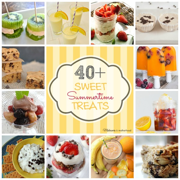40+ Summer Desserts;  www.makeoversandmotherhood.com