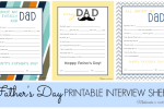 Father's Day Interview Sheets (printable)
