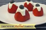 Lemon Cheesecake Stuffed Strawberries