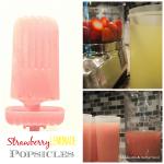 Strawberry Lemonade Popsicles; www.makeoversandmotherhood.com