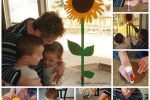 Handprint Sunflower Kid's Craft