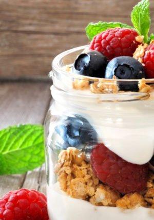 Patriotic Fruit and Yogurt Parfaits