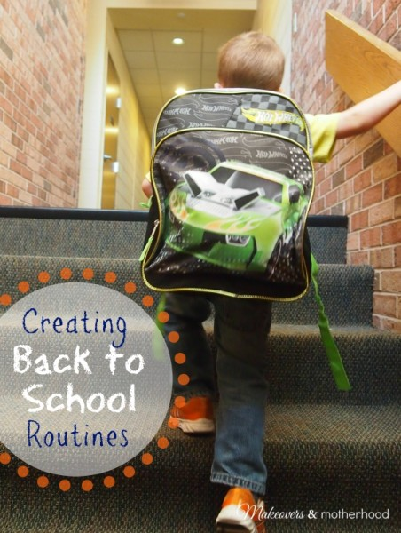 Creating Back to School Routines