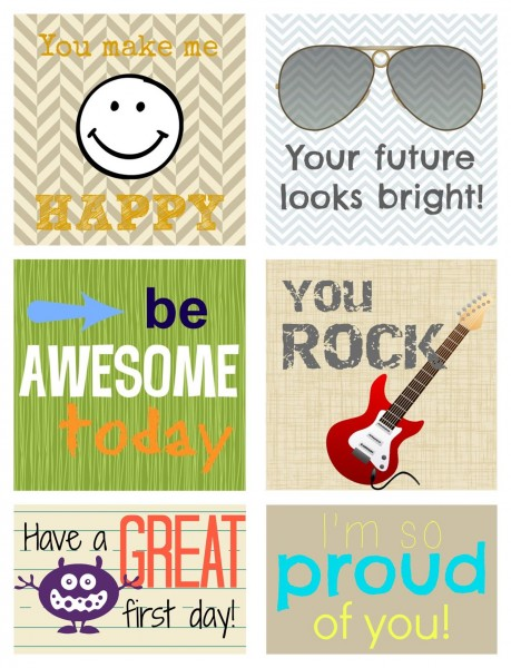 Rockin' Awesome Lunchbox Love Notes printable preview; www.makeoversandmotherhood.com