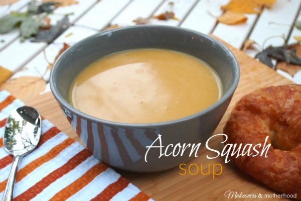 Acorn Squash Soup; www.makeoversandmotherhood.com