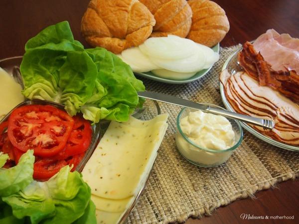 Clubssantwich = Club Croissant Sandwich; www.makeoversandmotherhood.com