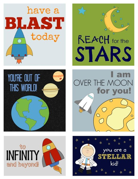 Outta This World Lunchbox Love Notes printable preview; www.makeoversandmotherhood.com