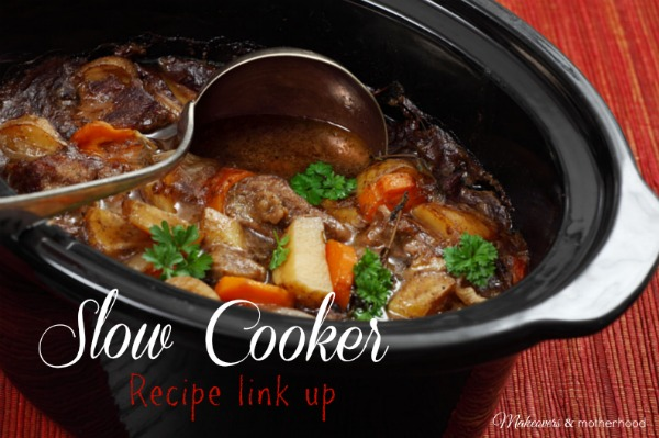 Slow Cooker link up; www.makeoversandmotherhood.com