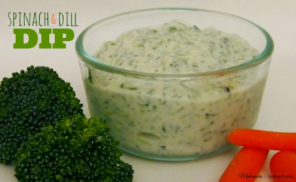 Spinach and Dill Dip; www.makeoversandmotherhood.com