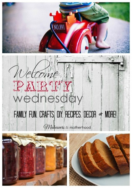 Welcome Party Wednesday Link Up; www.makeoversandmotherhood.com