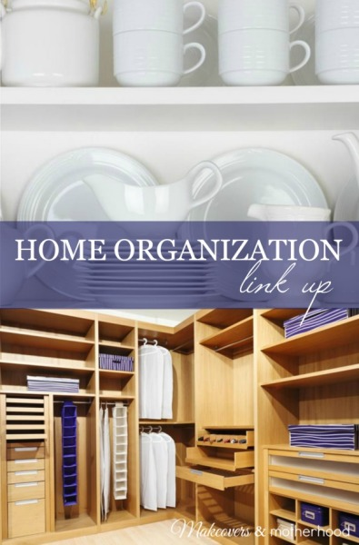 Home Organization Link Up; www.makeoversandmotherhood.com