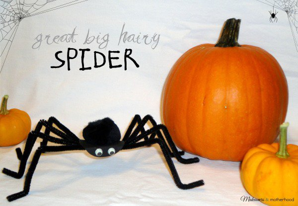Great Big Hairy Spider Craft; www.makeoversandmotherhood.com