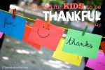 Teaching Kids to be Thankful Link Up