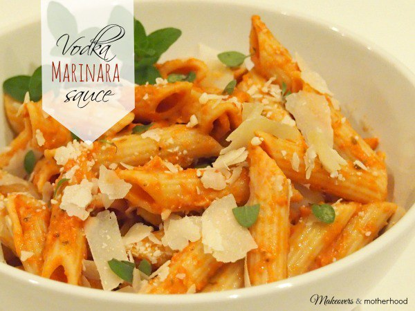 Vodka Marinara Sauce; www.makeoversandmotherhood.com
