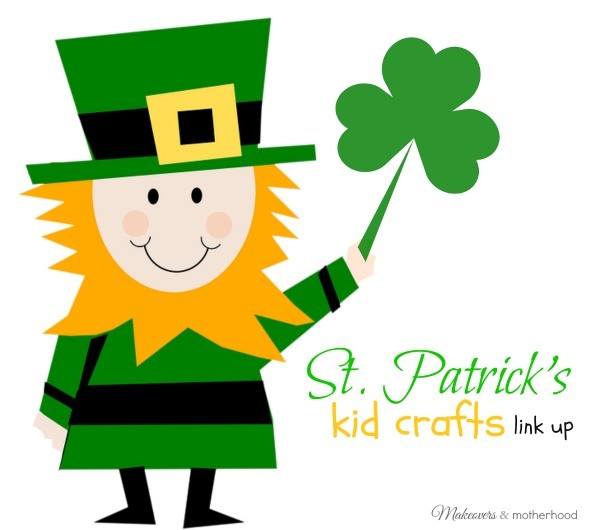 St. Patrick's Kid Crafts Link Up; www.makeoversandmotherhood.com