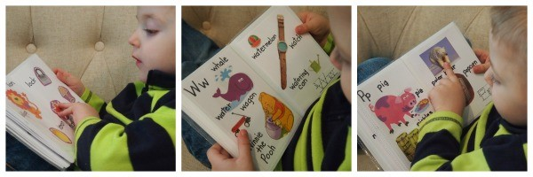 Alphabet Book layout; www.makeoversandmotherhood.com