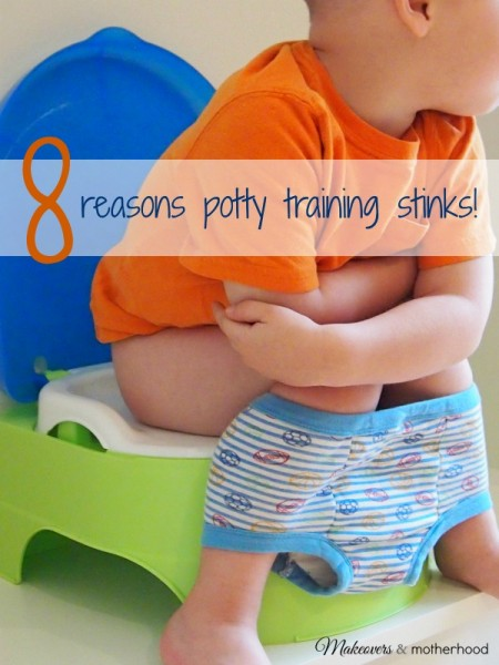 Potty Training Stinks; www.makeoversandmotherhood.com