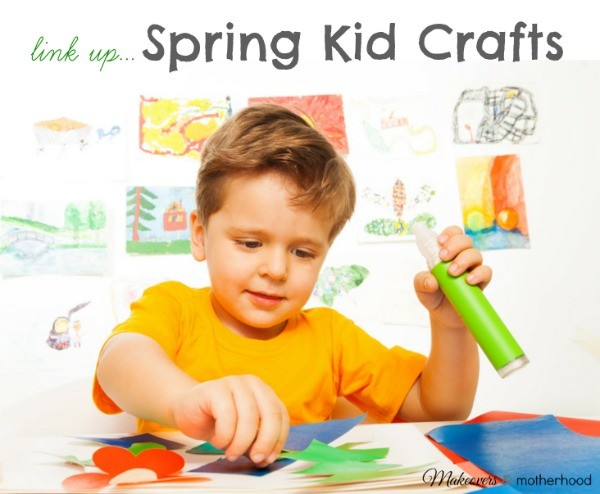Spring Crafts Link Up; www.makeoversandmotherhood.com