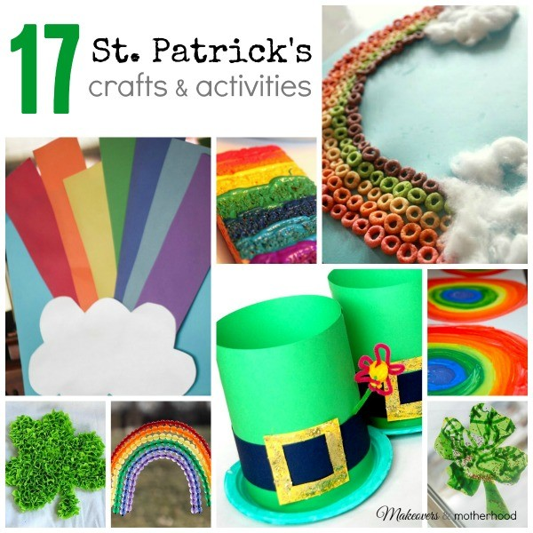 St. Patrick's Crafts & Activities Round-Up; www.makeoversandmotherhood.com