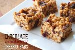 Chocolate Cranberry Cheerio Bars