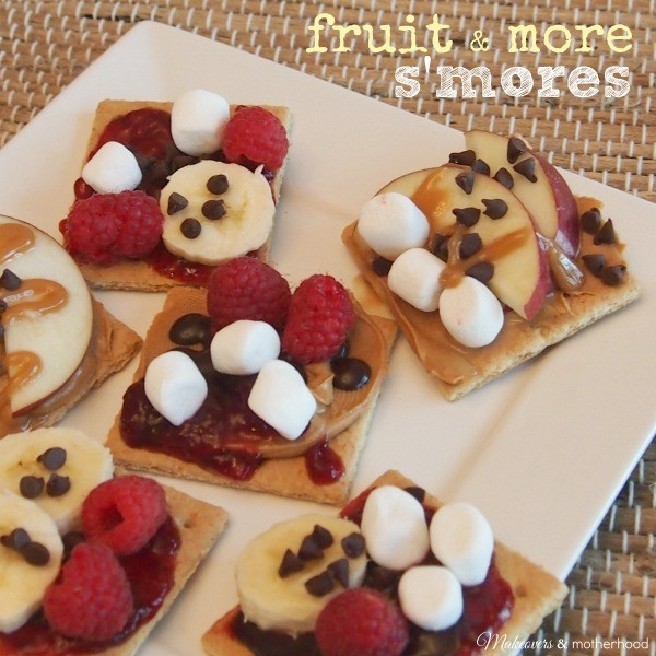 Fruit & More S'mores; www.makeoversandmotherhood.com