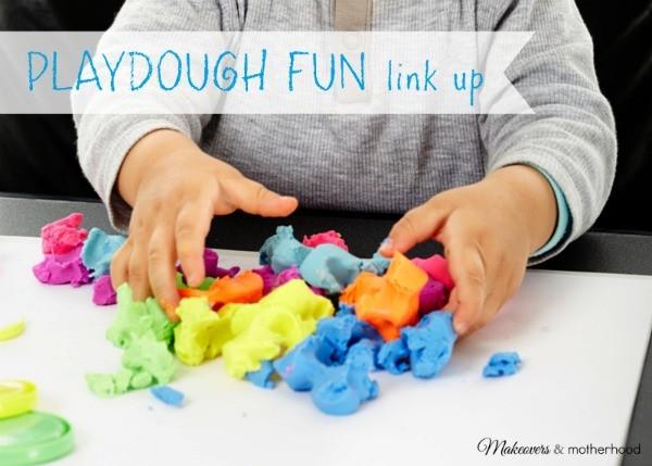 Playdough Fun Link Up; www.makeoversandmotherhood.com