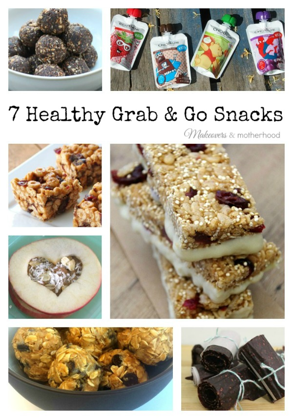7 Healthy Grab & Go Snacks; www.makeoversandmotherhood.com