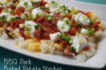 BBQ Pork Baked Potato Nachos