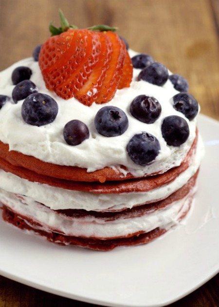 Red Velvet Berry Pancakes - The Gracious Wife