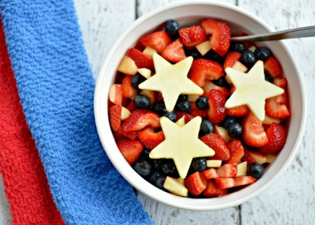 Red White Blue Fruit Salad - Texas Type A Mom