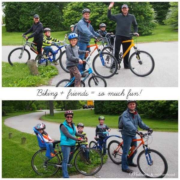 Splenda Challenge - Biking with friends; www.makeoversandmotherhood.com