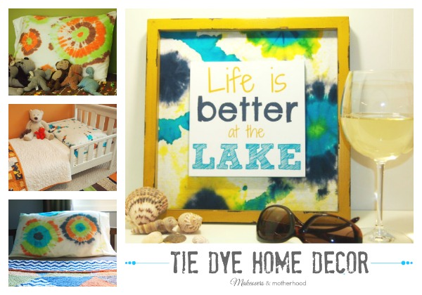 Tie Dye Home Decor; www.makeoversandmotherhood.com