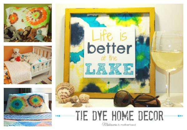 Tie Dye Home Decor; www.makeoversandmotherhood.com